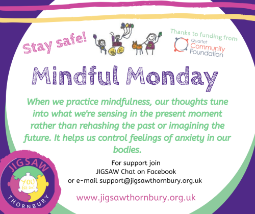 Virtual JIGSAW Mindful Monday – British Red Cross C.A.L.M.E.R.