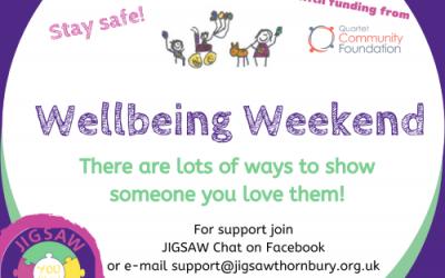 Virtual JIGSAW Wellbeing Weekend – When we can't hug…