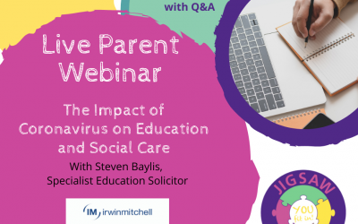 Recording of Parent Webinar – The Impact of Coronavirus on Education & Social Care