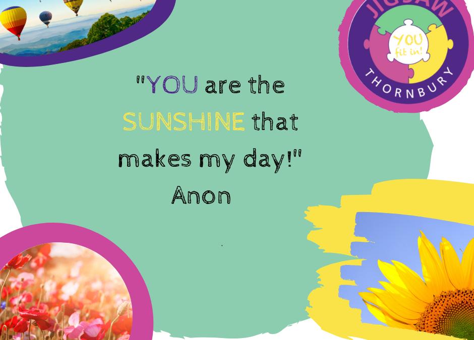 Virtual JIGSAW Thankful Thursday – Sunshine