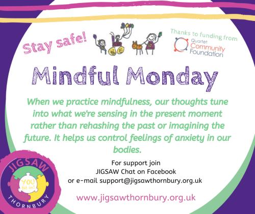 Virtual JIGSAW Mindful Monday – Stitch Challenge