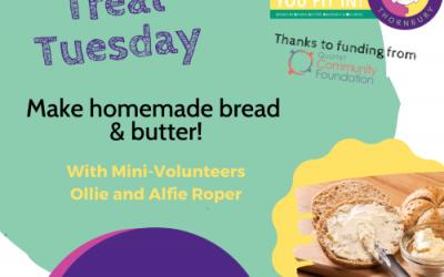 Virtual JIGSAW Treat Tuesday – Homemade bread & butter