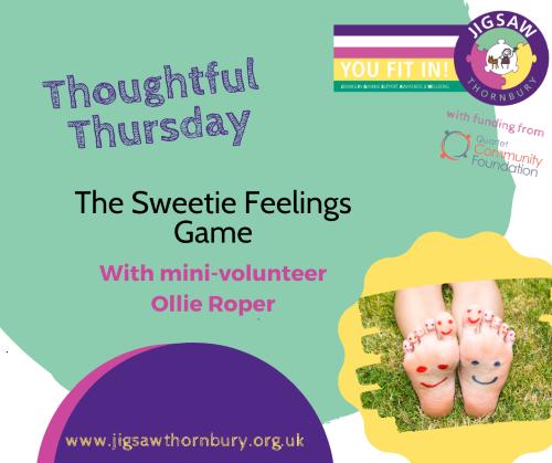 Virtual JIGSAW Thoughtful Thursday – Sweetie feelings game