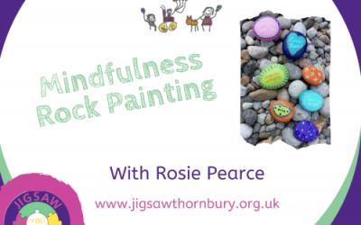 Virtual JIGSAW Happy Monday – Mindfulness rock painting