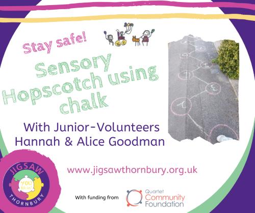Virtual JIGSAW Sensory Saturday – Sensory Hopscotch
