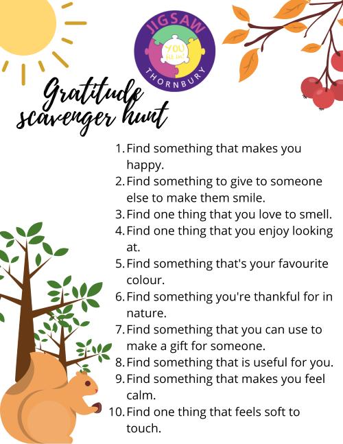 Virtual JIGSAW Thankful Thursday – Gratitude Scavenger Hunt