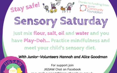 Virtual JIGSAW Sensory Saturday – Play-doh