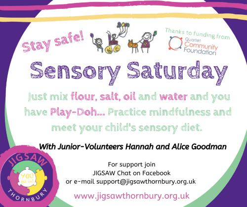 Virtual JIGSAW Sensory Saturday – Play-doh