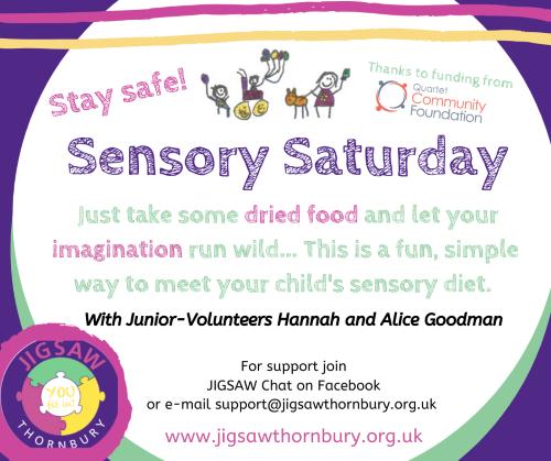 Virtual JIGSAW Sensory Saturday – Food Play