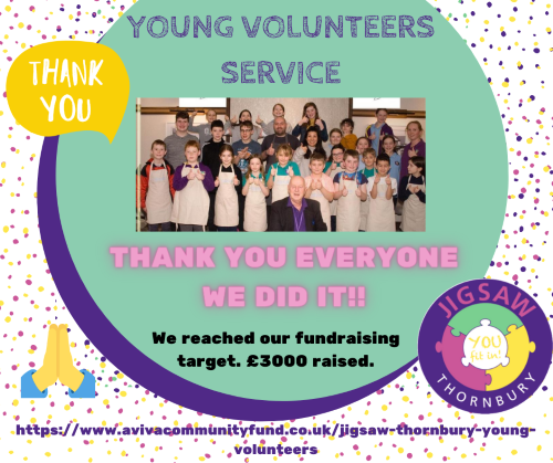 JIGSAW Young Volunteers Scheme hits fundraising target