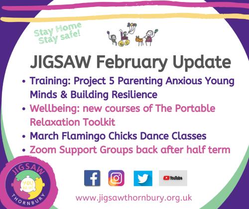 JIGSAW Events Update – February 16th