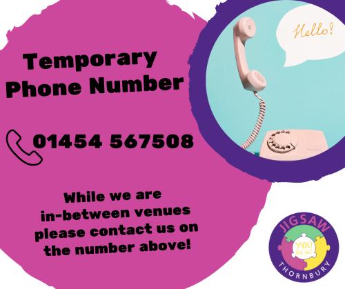 Temporary JIGSAW telephone number